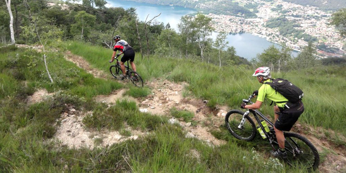 Escursioni in mountain bike sentiero blu